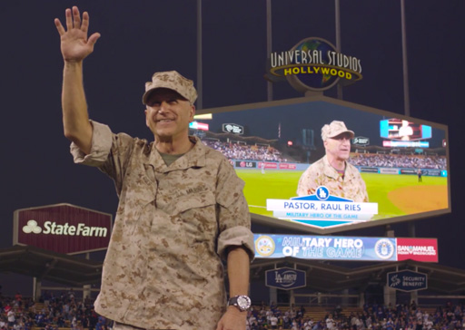 Military Hero of the Game<br>LA Dodgers