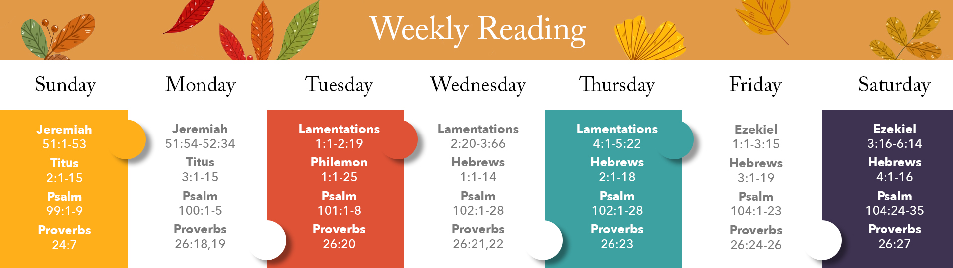 Weekly Reading
